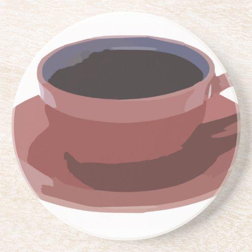 Taza de café de color de malva posavasos cerveza