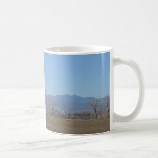 Taza de café de Colorado en noviembre