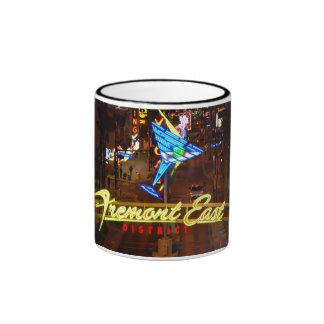 Taza de café de cristal de neón de Las Vegas Marti