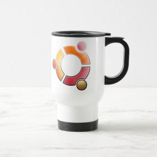 Taza de café de cristal de Ubuntu
