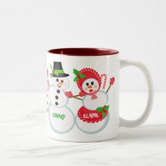 Taza de café de cristal del amor de los muñecos de