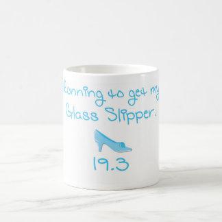 Taza de café de cristal del desafío del deslizador