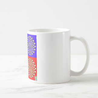 Taza de café de cuatro cuadrados