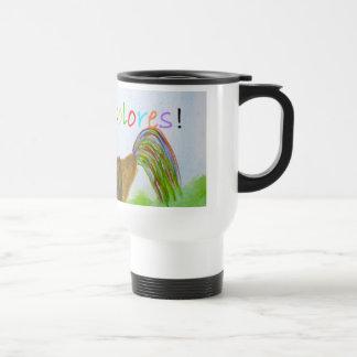 Taza de café de DeColores del gallo