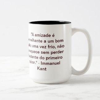 TAZA DE CAFÉ DE DOS COLORES