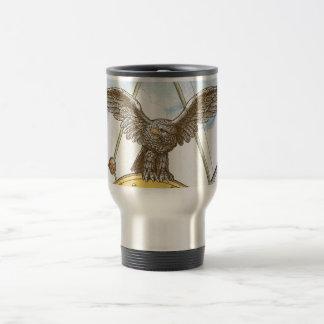 Taza de café de Eagle del patriota