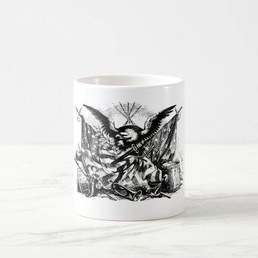 Taza de café de Eagle del vintage