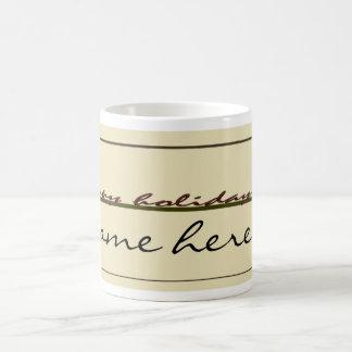 Taza de café de encargo de la etiqueta del regalo