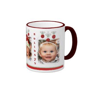 Taza de café de encargo de los ornamentos del
