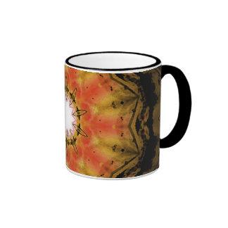 Taza de café de encargo del caleidoscopio del arte