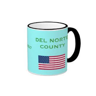 Taza de café de encargo del condado de Del Norte