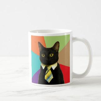 Taza de café de encargo del gato del negocio