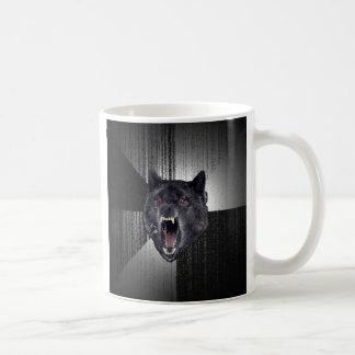 Taza de café de encargo del lobo de la locura