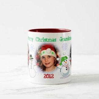 Taza de café de encargo del navidad de la foto