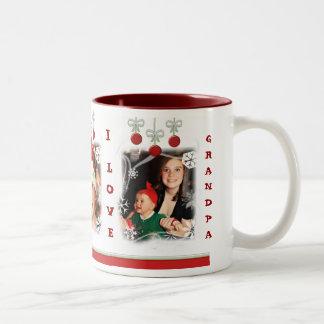 Taza de café de encargo del navidad de la foto y d