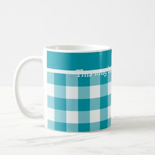 Taza de café de encargo, guinga del control del