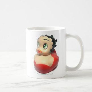 Taza de café de goma de encargo del pato de Betty