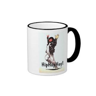 ¡Taza de café de HipHopHey! Taza A Dos Colores