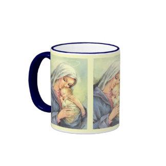 Taza de café de Jesús del bebé de Maria de la madr