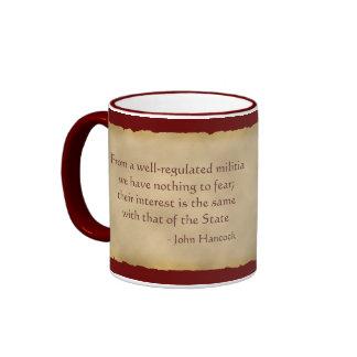 Taza de café de Juan Hancock