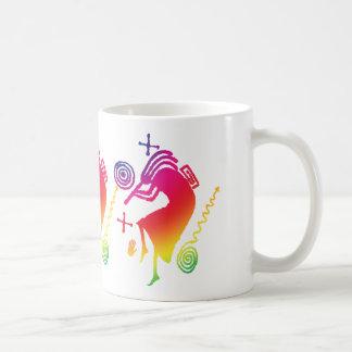 Taza de café de Kokopelli del arco iris