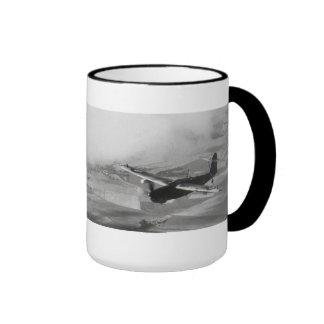 Taza de café de la aviación del art déco