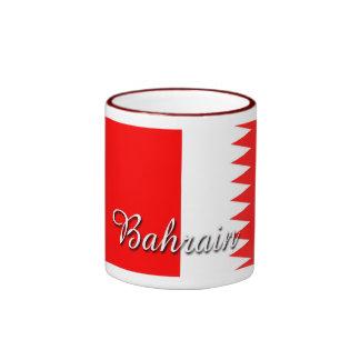 Taza de café de la bandera de Bahrein