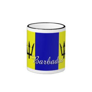 Taza de café de la bandera de Barbados