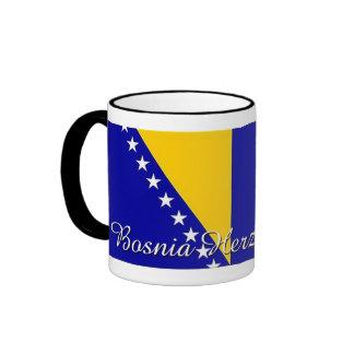 Taza de café de la bandera de Bosnia y Hercegovina