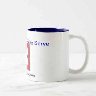 Taza de café de la bandera de la estrella azul Ho