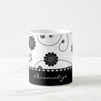 Taza de café de la bandera de la floración del