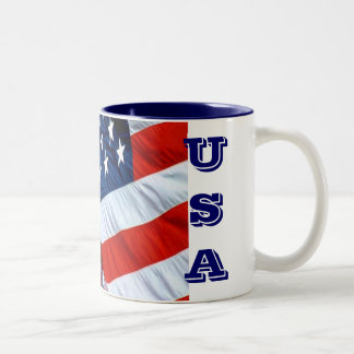 Taza de café de la bandera de los E.E.U.U.