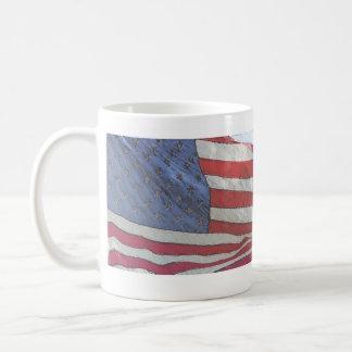 Taza de café de la bandera de los Estados Unidos d