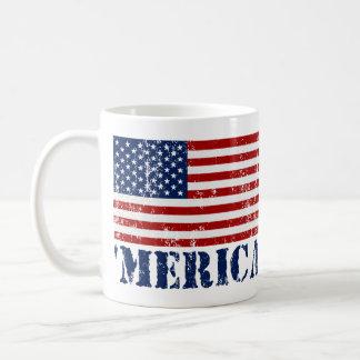 Taza de café de la bandera de MERICA E.E.U.U. del