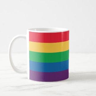 Taza de café de la bandera del arco iris