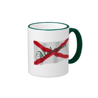 Taza de café de la bandera del estado de Alabama