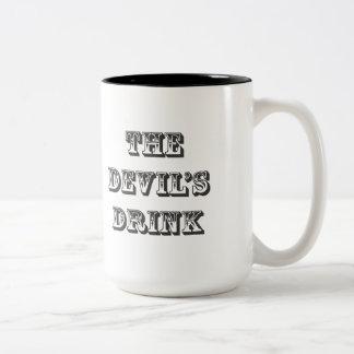 Taza de café de la bebida del diablo de la tienda