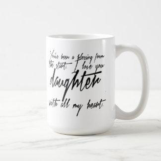 Taza de café de la bendición de la hija
