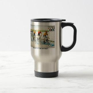 Taza de café de la bicicleta del vintage