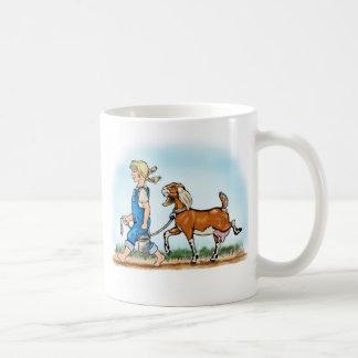 Taza de café de la cabra de la lechería