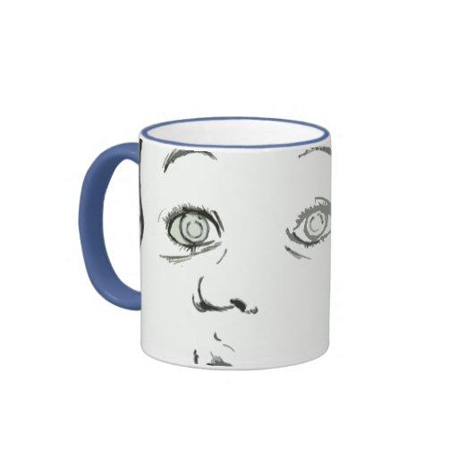 Taza de café de la cara del bebé - elija su color