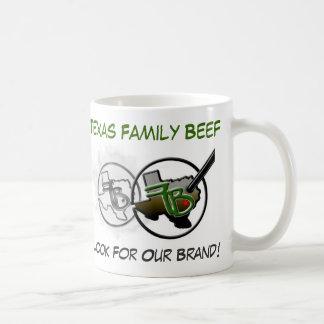 Taza de café de la carne de vaca de la familia de