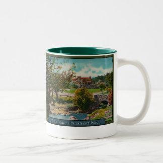 Taza de café de la casa de campo del juego del par
