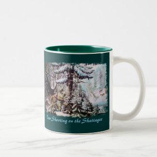 Taza de café de la caza de los ciervos