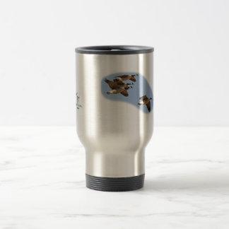 Taza de café de la caza del ganso