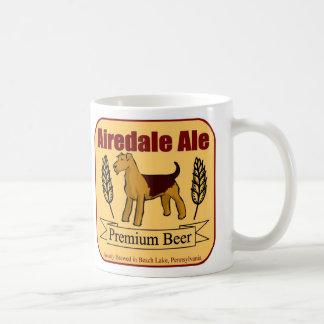 Taza de café de la cerveza inglesa de Airedale