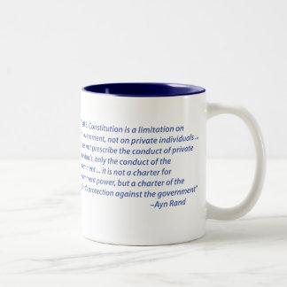 Taza de café de la cita de Ayn Rand