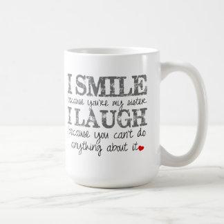 Taza de café de la cita de la hermana