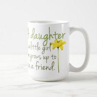 Taza de café de la cita de la hija