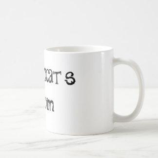 Taza de café de la cita de la mamá del gato de